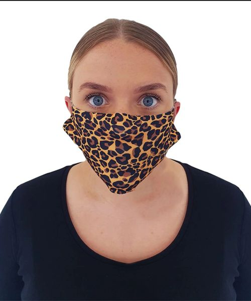 Leopard Print Cheeky Face Masks ( 2 for £10 ) free uk p&p
