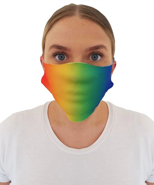 Rainbow Pride Cheeky Face Masks ( 2 for £10 ) free uk p&p