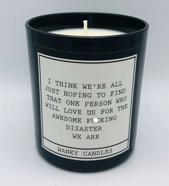 Wanky Candle - Black Jar - Disaster we are WCBJ11