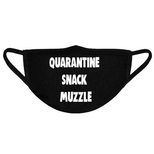 Quarantine Snack Muzzle - Facemask - WhiteText - FM02