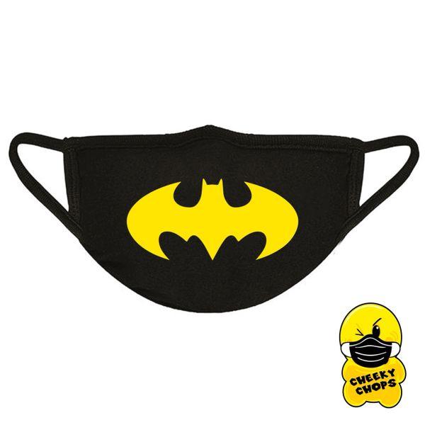 Face mask Batman Black mask, yellow text - FM16