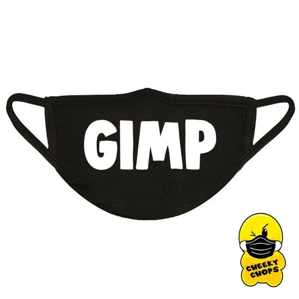 GIMP Face mask,white text - FM29