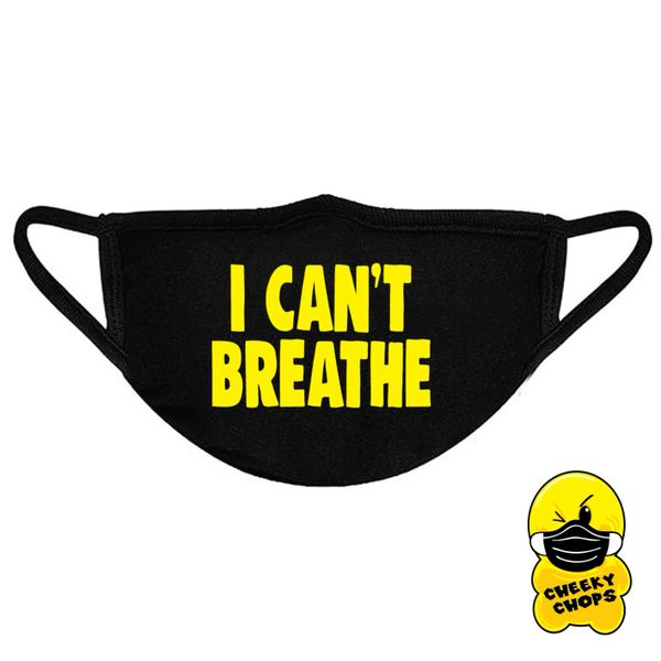 I can't breathe Face mask, yellow text - FM11