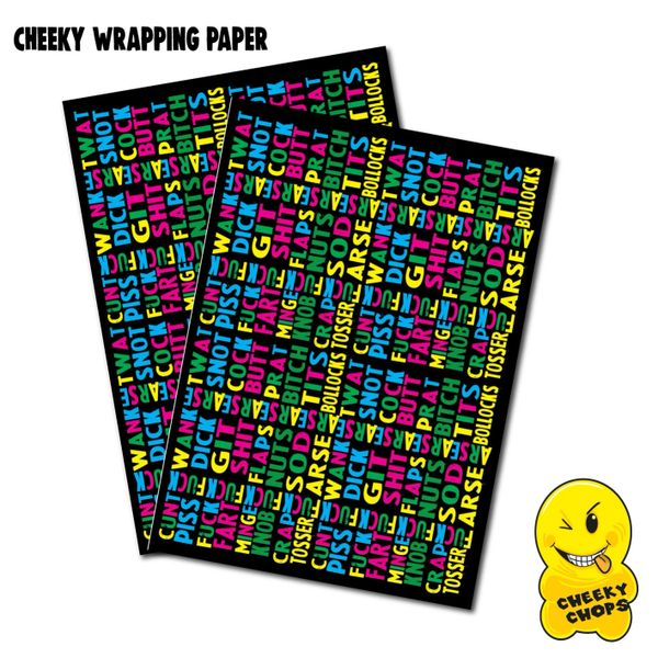 2 x Sheets of Extra Sweary Wrapping Paper