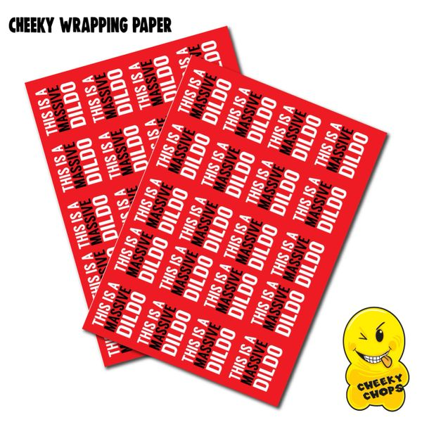 2 x Sheets Wrapping Paper - This is a massive dildo WRAP 02