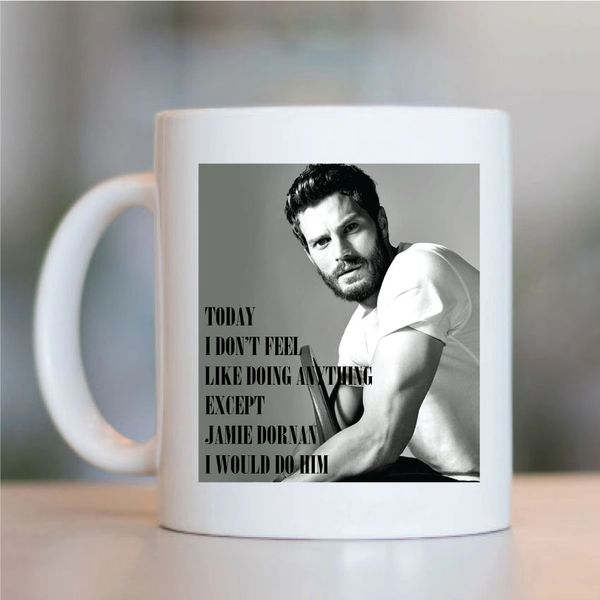I would do Jamie Dornan Fifty shades The Fall MUG