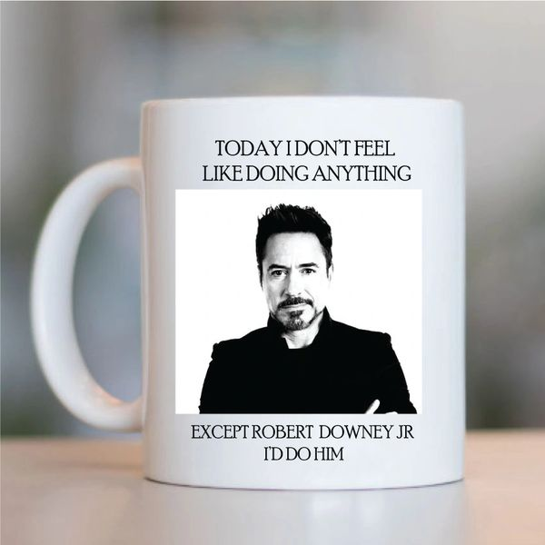 Robert Downey Jr. Funny Mugs Novelty Mug - Birthday Office Cup Drink Gifts
