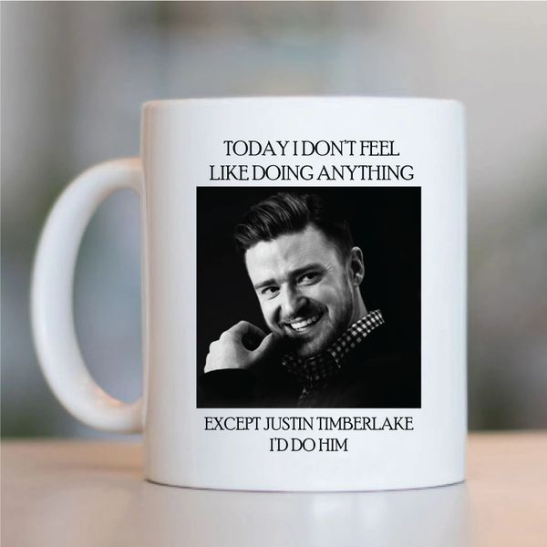 Justin Timberlake Funny Mugs Novelty Mug - Birthday Office Cup Drink Gift
