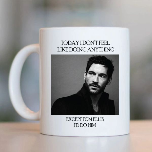 Tom Ellis Funny Mugs Novelty Mug - Birthday Office Cup Drink Gift