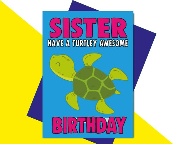 Sister Have a Turtley Awesome Birthday C614