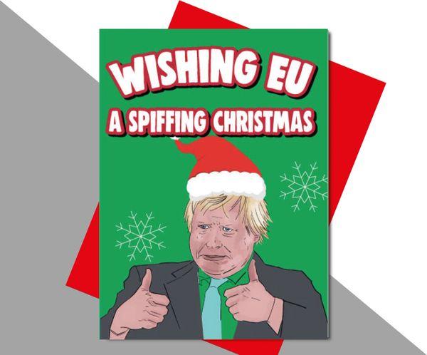 Boris Johnson Wishing EU a spiffing christmas XM172