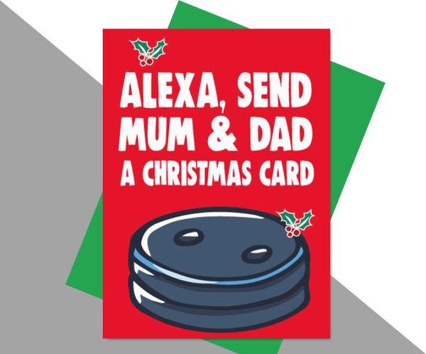 Alexa send mum and dad a christmas card XM187