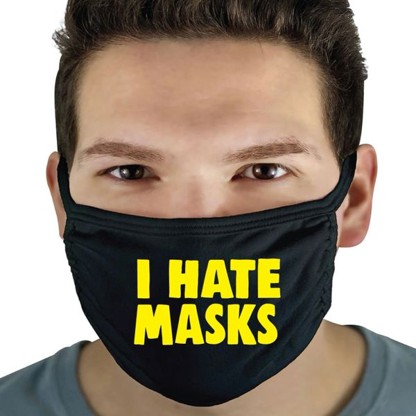 Funny Face Mask- I Hate Masks FM34
