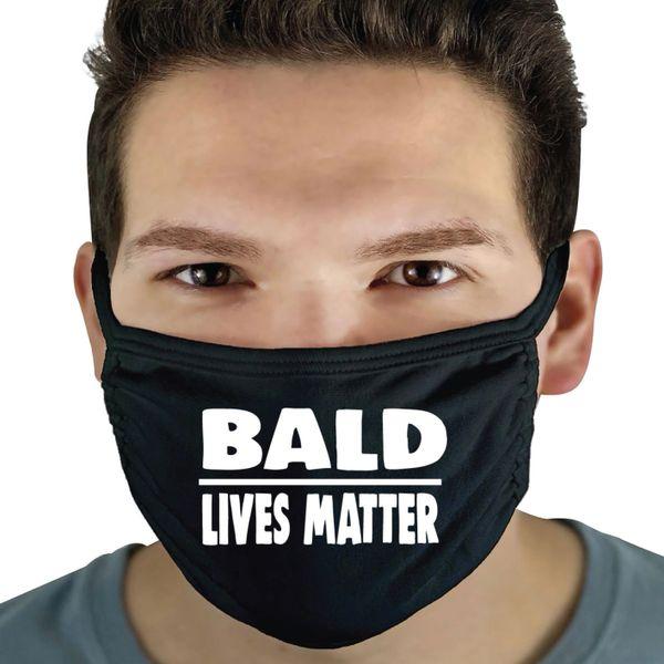 Funny Face Mask- BALD LOVES MATTER FM36