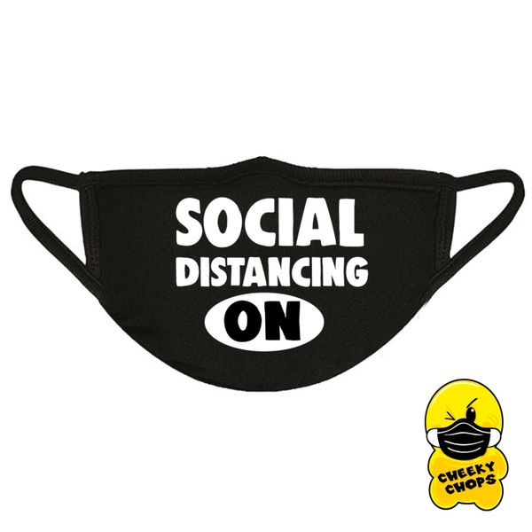 Funny Face Mask- SOCIAL DISTANCING ON FM39
