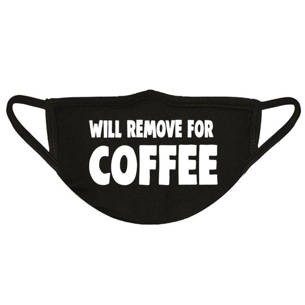Funny Face Mask- WILL REMOVE FOR COFFEE FM58