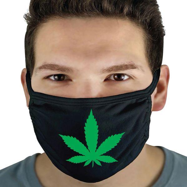Funny Face Mask- Marijuana Plant FM62