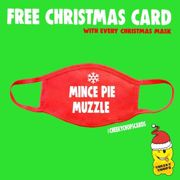 Funny Face Mask- Mince Pie Muzzle FM66