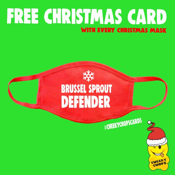 Funny Face Mask- Brussel Sprout Defender FM69