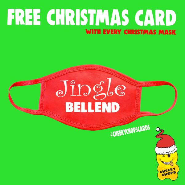 Funny Face Mask- Jingle Bellend FM73