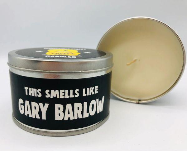Wanky Candle Tin - Smells like Gary Barlow