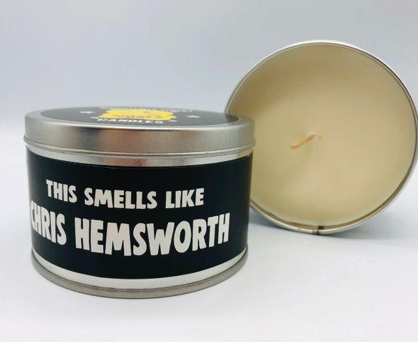 Wanky Candle Tin - Smells like Chris Hemsworth