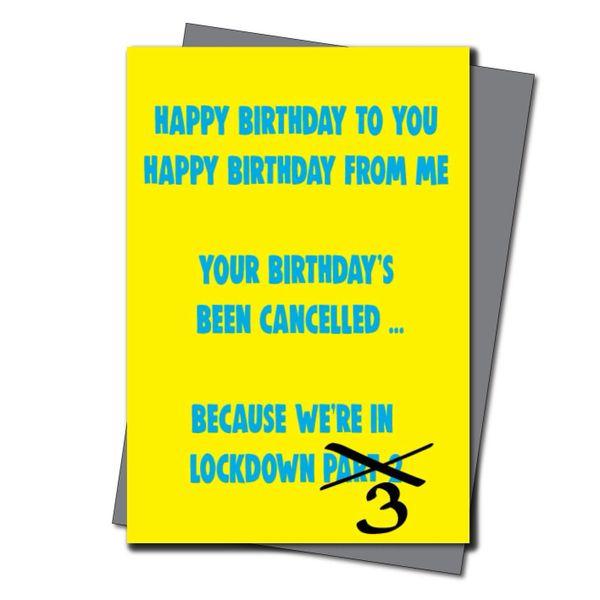 Lockdown Birthday Card Him Her Mum Dad Brother Sister - Quarantine Birthday - Friend Birthday Cards for her -Witty Banter - CV41 lockdown part 3