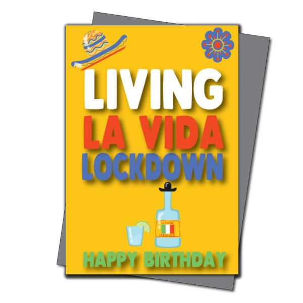 Lockdown Birthday Card Him Her Mum Dad Brother Sister - Quarantine Birthday - Friend Birthday Cards for her -Witty Banter - CV39 La Vida
