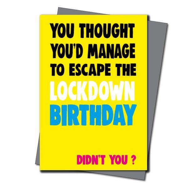 Lockdown Birthday Card Him Her Mum Dad Brother Sister - Quarantine Birthday - Friend Birthday Cards for her -Witty Banter - CV39 La Vida
