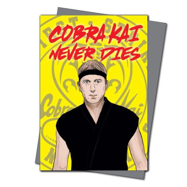 Cobra Kai Birthday Card Cobra Kai Johnny Lawrence Cobra Kai never dies IN60