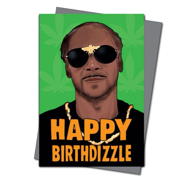 Happy Birthdizzle - Snoop Dogg Themed Birthday Card - Hip Hop - Celebrity - Greeting Card - Birthday Card - Snooooop IN57
