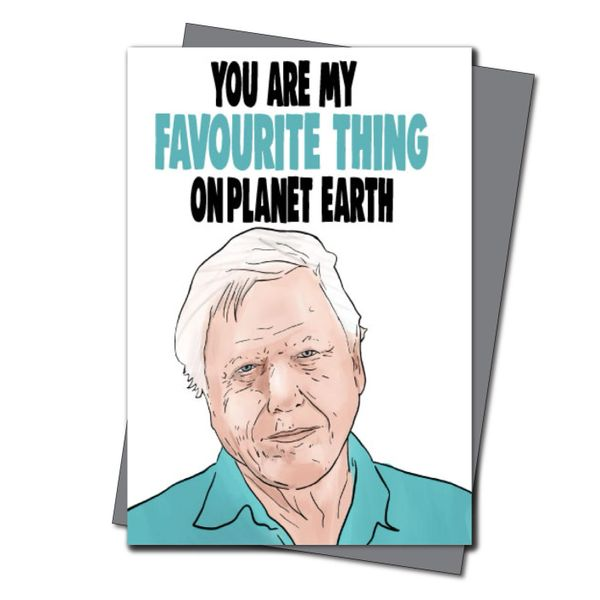 David Attenborough Birthday Card - You are my favourite thing on planet earth IN39