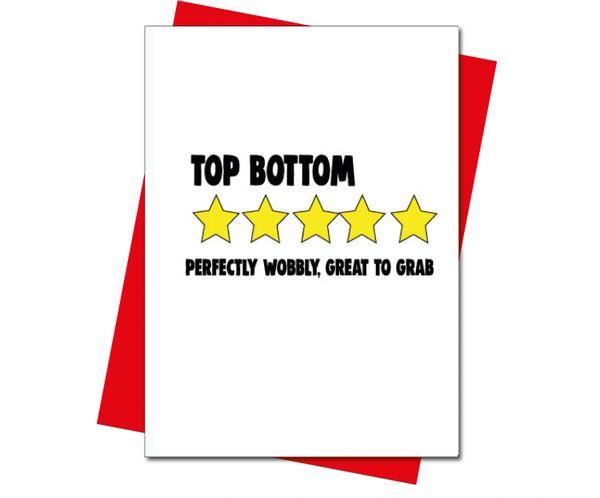 Rude Valentine's Anniversary card 5 star review - top bottom v217