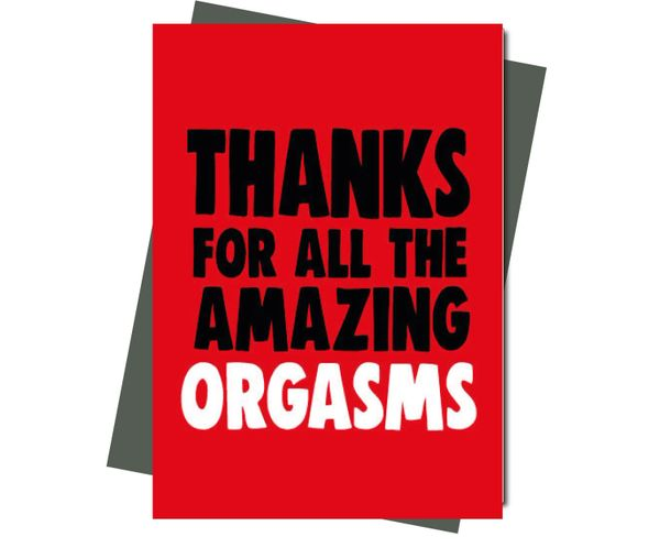 Rude Valentine's Anniversary card Thanks for all the amazing orgasms v211