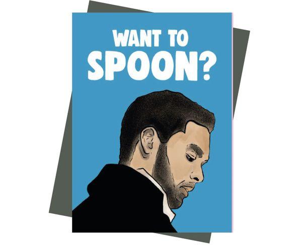Bridgerton Duke of Hastings Card - Want to spoon ?IN64