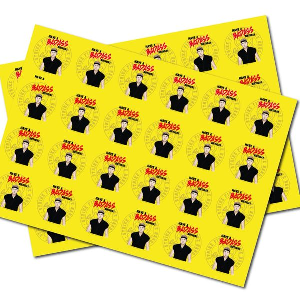 Cobra Kai 2 sheets of wrapping paper Gift Wrap for Adults with A Cheeky Sense of Humour - Folded, Quality Wrap WRAP 10