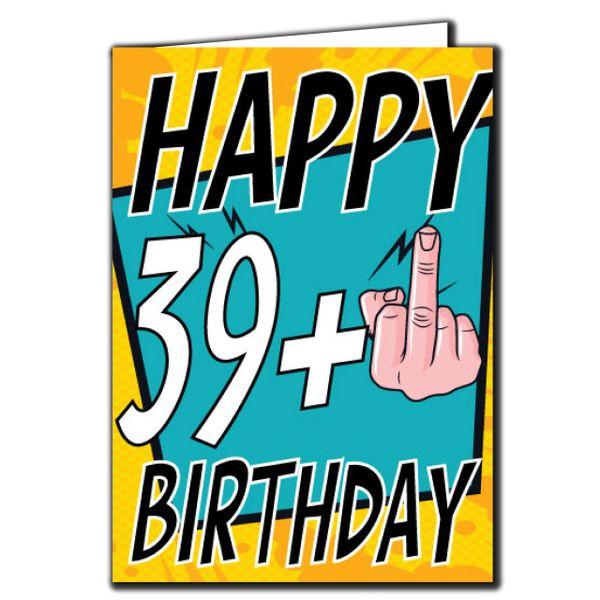 39+ 39 40 Birthday Age Relation Male Female Birthday Card AGE24
