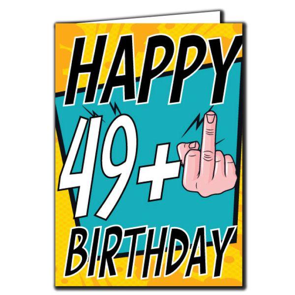 49+ 49 50 Birthday Age Relation Male Female Birthday Card AGE25