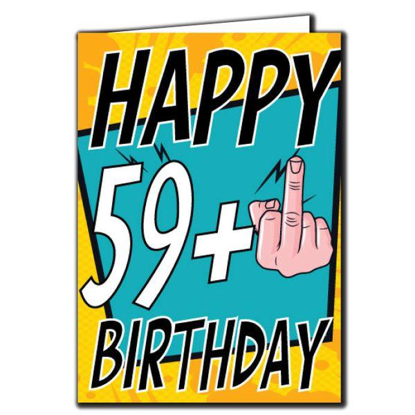 59+ 59 60 Birthday Age Relation Male Female Birthday Card AGE26