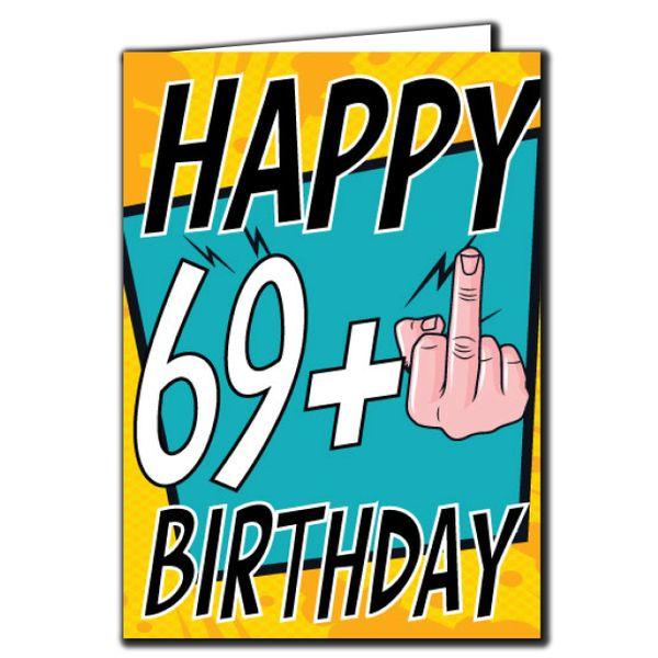 69+ 69 70 Birthday Age Relation Male Female Birthday Card AGE27