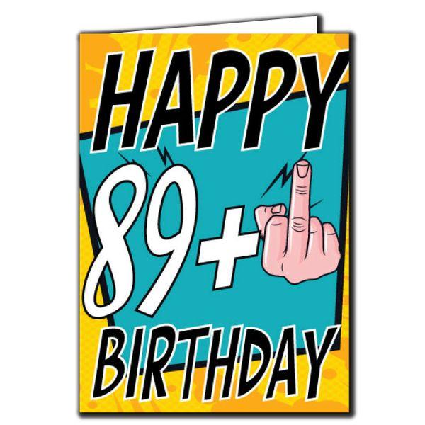 89+ 89 90 Birthday Age Relation Male Female Birthday Card AGE29