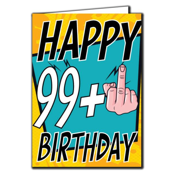 99+ 99 100 Birthday Age Relation Male Female Birthday Card AGE30
