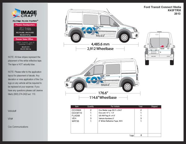 Ford Transit 2013 - Media - Complete Kit