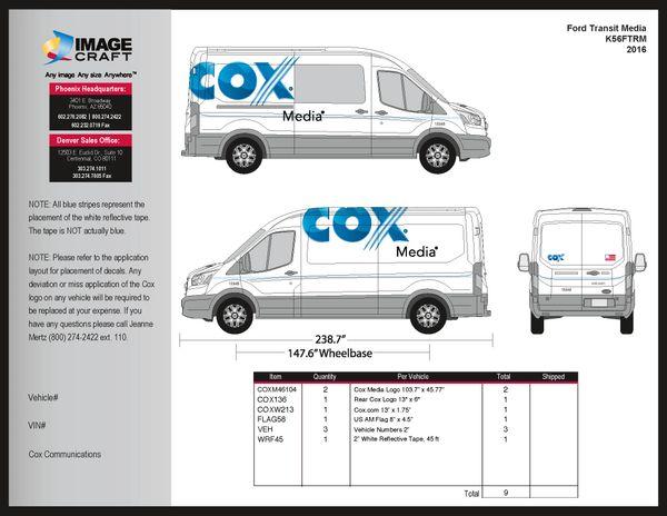 Ford Transit 2016 - Media - Complete Kit