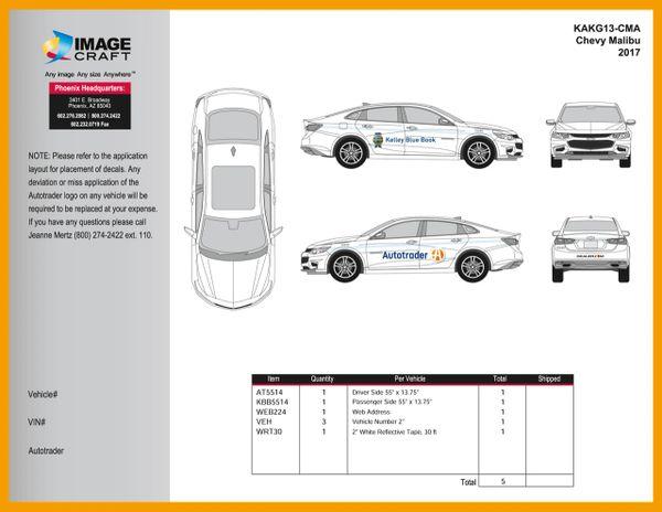 Chevy Malibu 2015-2017 - Autotrader/KBB - Complete Kit