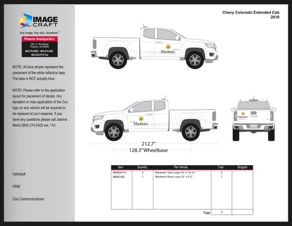 Chevy Colorado, Extended Cab, 2018 - Manheim - Kit