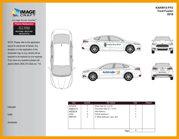 Ford Fusion 2018 - Autotrader/KBB - A La Carte