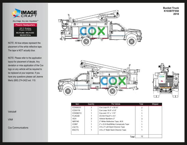 Bucket Truck - Ford F550 (K103-BT-F550) - A la Carte