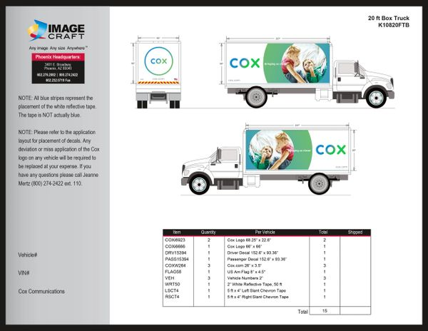 Box Truck - 20 ft - Complete Kit
