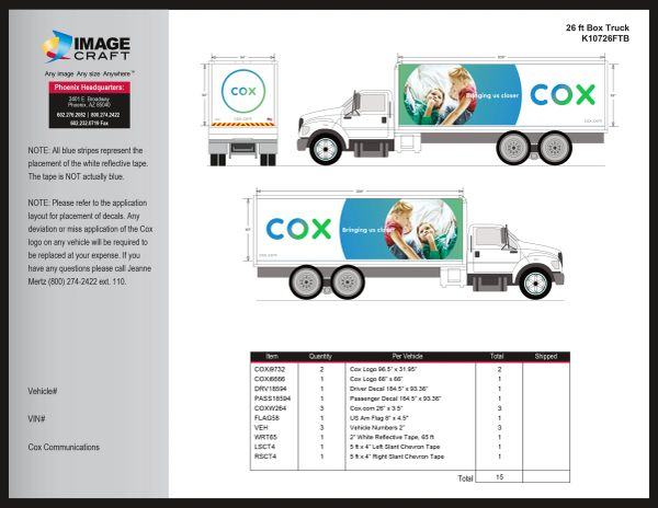Box Truck - 26 ft - Complete Kit